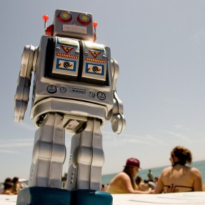 Mr Roboto at the Beach